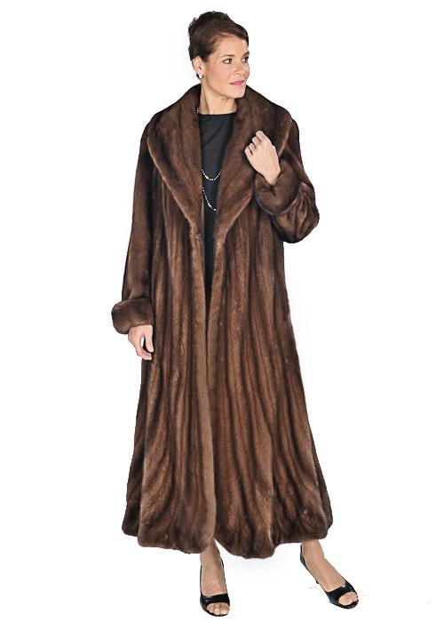 Mink Coat – Trumpet Hemline Soft Brown Mink   Madison Avenue Mall Fu