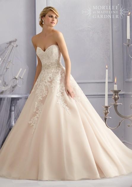 Mori Lee Bridal 2690 Tulle A-Line Wedding Dre