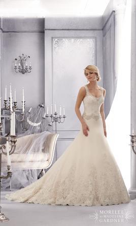 Mori Lee Mori Lee Bridal by Madeline Gardner 2688 Wedding Dress .