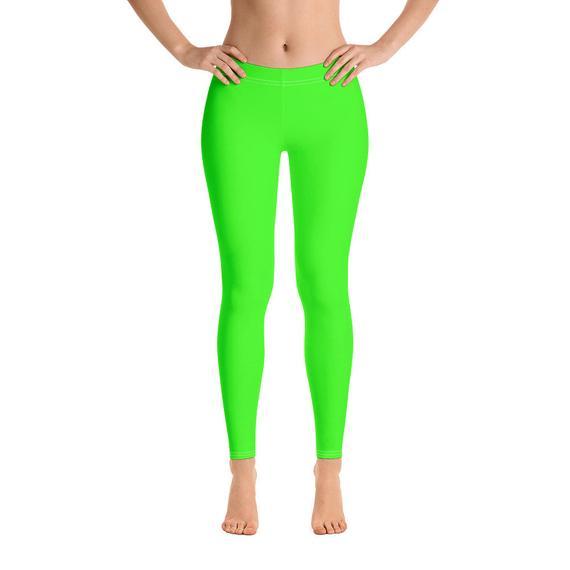 Neon Green Leggings Neon Leggings Solid color Leggings for | Et