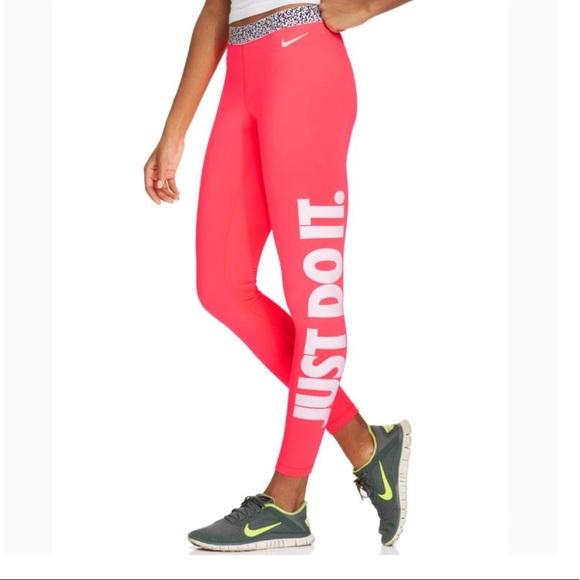 Nike Pants | Hyperwarm Mezzo Neon Leggings | Poshma