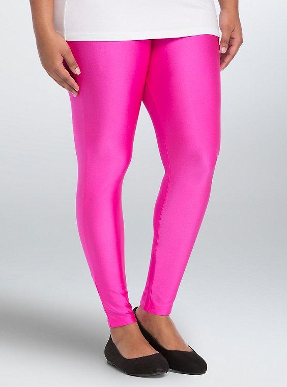 Plus Size - Neon Liquid Leggings - Torr