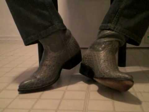 Size 10D Gray Elephant Nocona Cowboy Boots - YouTu