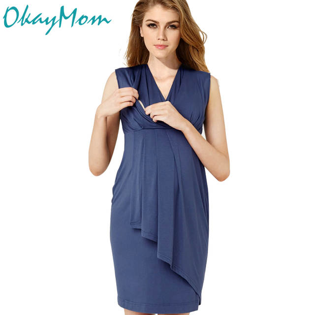 Euro America Sexy V Neck Maternity Nursing Dresses Pregnancy Nurse .