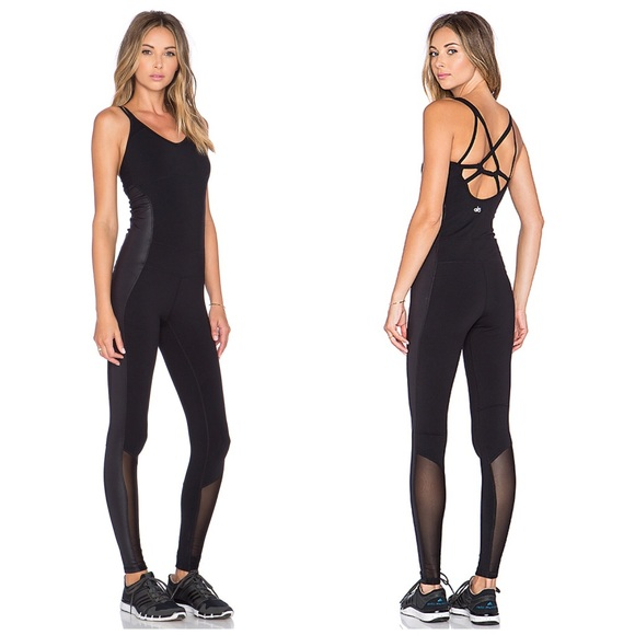 ALO Yoga Pants | Black Rebel Unitard One Piece Jumpsuit | Poshma