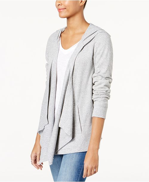 INC International Concepts INC Hooded Open-Front Cardigan, Created .