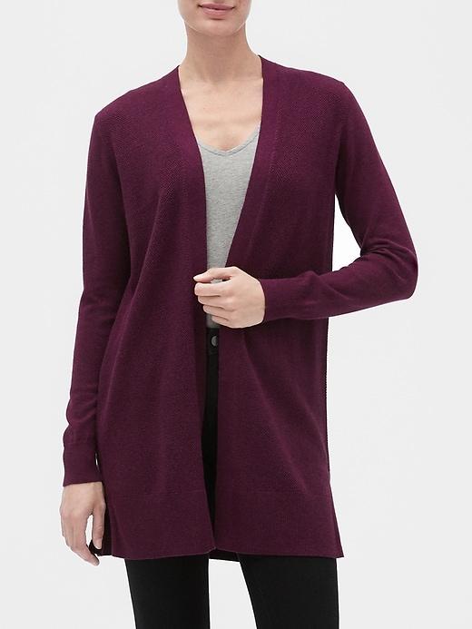 Longline Open-Front Cardigan Sweater | Gap Facto