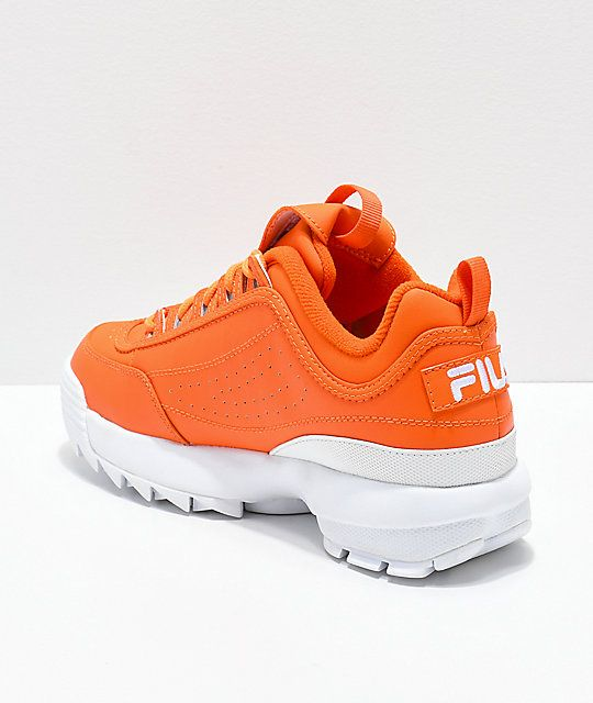 FILA Disruptor II Orange Shoes | Orange shoes, Orange sneakers .
