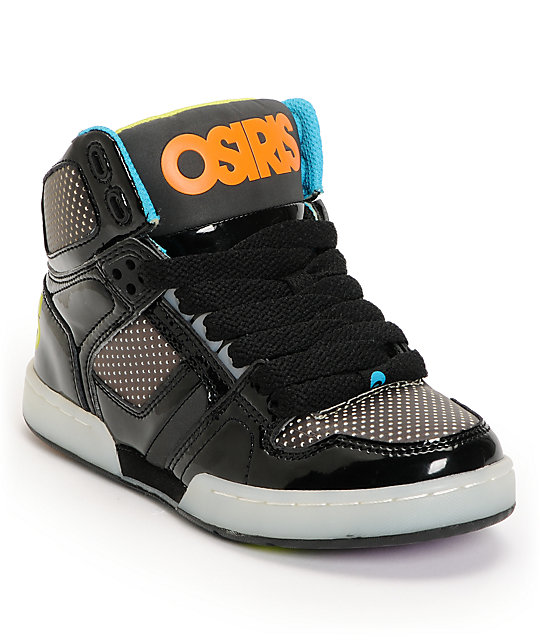 Osiris Kids NYC 83 SE Black & Heat Factor Skate Shoes | Zumi