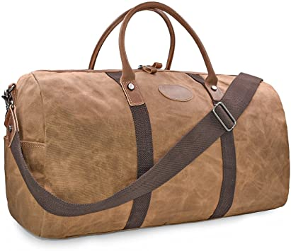 Amazon.com | Travel Duffel Bag Waterproof Canvas Overnight Bag .