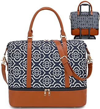 Amazon.com | Women Ladies Weekender Overnight Bag Travel Tote .