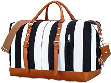 Amazon.com | Travel Weekend Overnight Bag for Womens Mens Canvas .