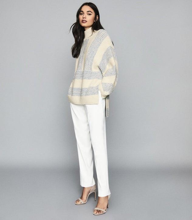 Astrid Cream Striped Oversized Jumper – REI