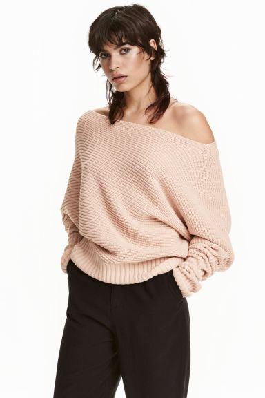 Oversized jumper - Powder beige - Ladies | H&M