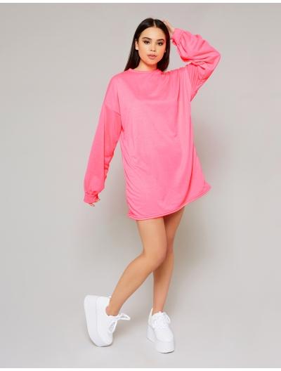 Pink Oversized Jumper Dress | Public Desire | Public Desire
