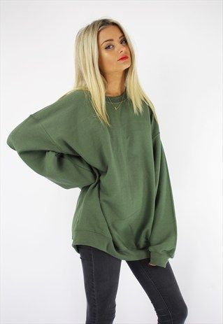 Basic oversized boyfriend sweater khaki | Clothes, Fashion, Classy .