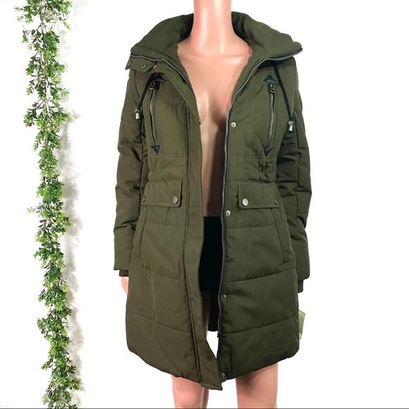 Lucky Brand Jackets & Coats | Army Green Hooded Parka Coat New .