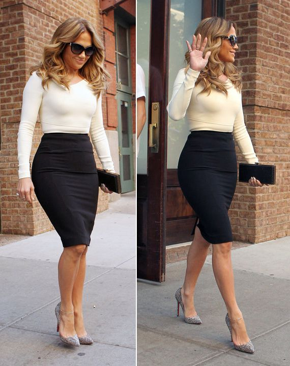 jennifer lopez - love the outfit...Pencil skirt...Love it (With .