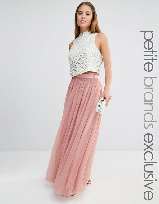 True Decadence Petite All Over Tulle Full Maxi Skirt | AS