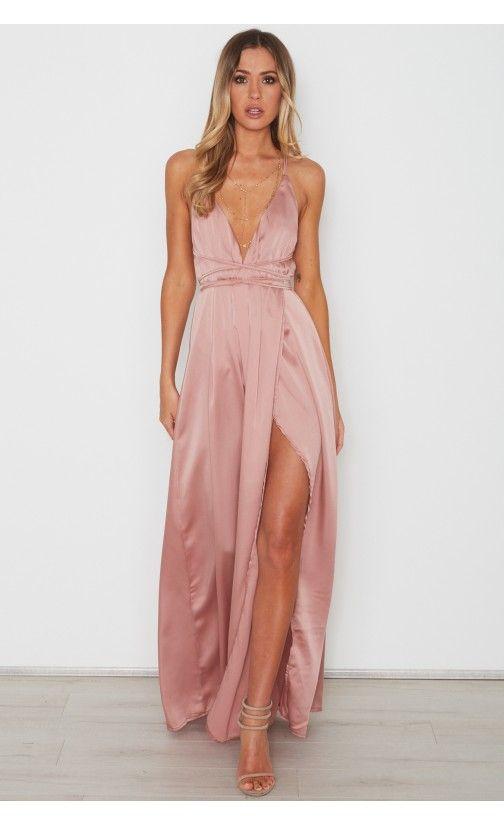 Akela Maxi Dress Dusty Pink | Vestidos de dama, Vestidos, Vestidos .