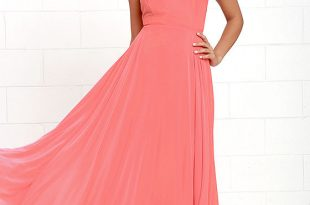 Orange Dresses: Gives Attractive Look To Brides | Peach maxi .