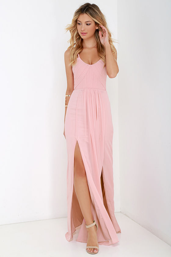 Pretty Pink Maxi Dress – Fashion dress