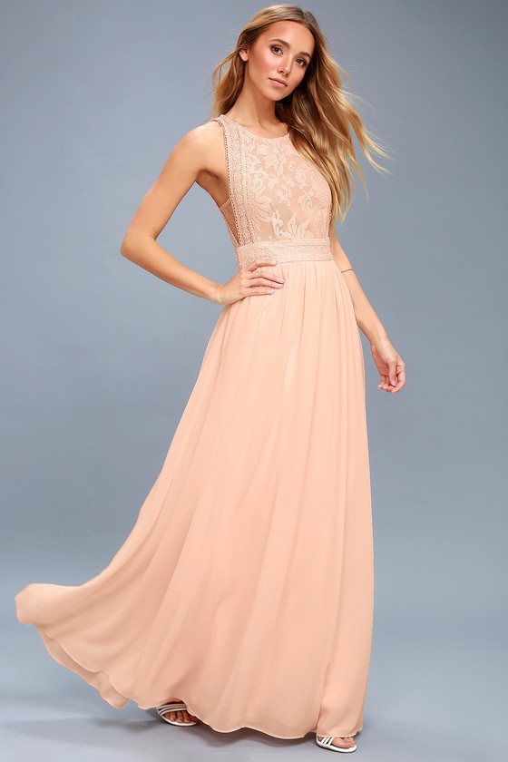 Meteoric Rise Blush Maxi Dress | Blush pink maxi dress, Peach maxi .