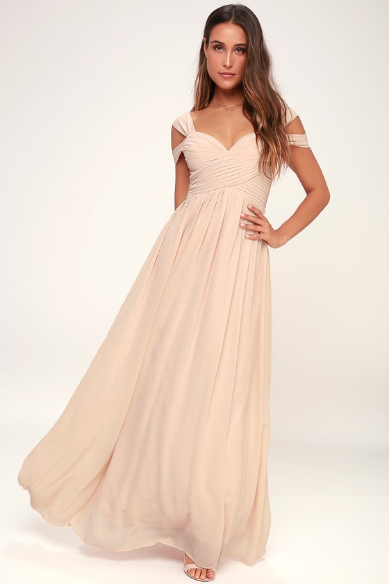 Make Me Move Blush Pink Maxi Dress | Blush pink maxi dress, Peach .