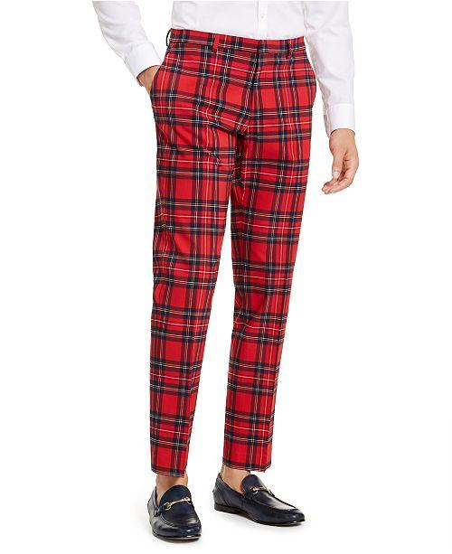 Tommy Hilfiger Men's Modern-Fit THFlex Stretch Plaid Dress Pants .