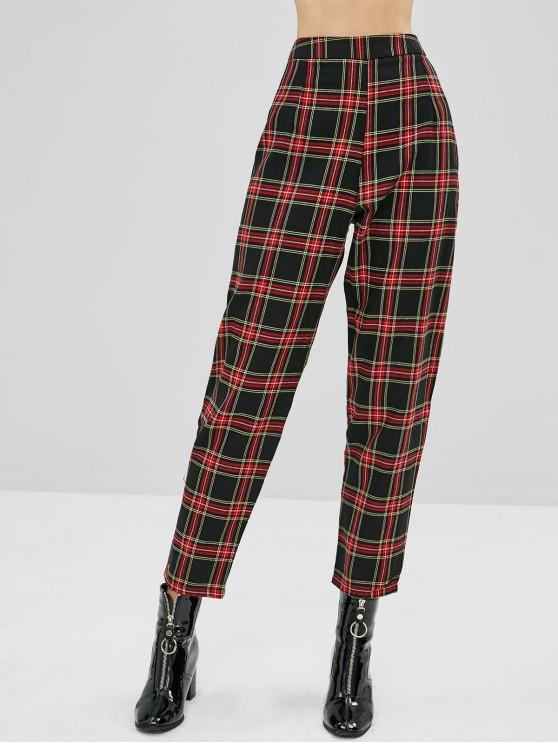 40% OFF] [HOT] 2020 Tapered Plaid High Waisted Pants In MULTI | ZAF