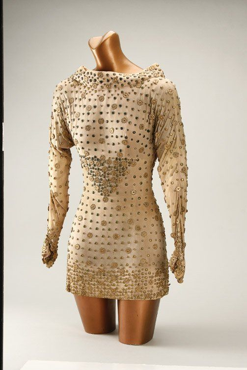 Forbidden Planet (1956) flesh colored mini dress worn by Anne .
