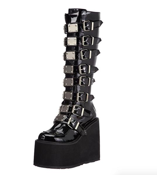 SAND WARRIOR CYBER GOTH platform boots in 2020 | Goth platform .