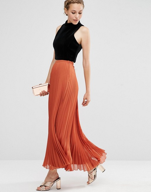 ASOS Pleated Maxi Skirt | AS