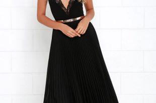 Black Skirt - Maxi Skirt - Pleated Skirt - High-Waisted Skirt - $65.