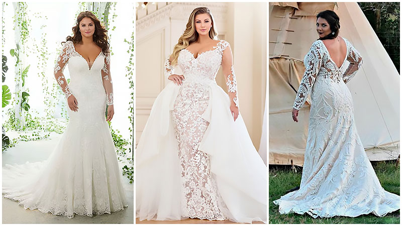 Beautiful Plus Size Wedding Dresses for Curvy Brides - The Trend .