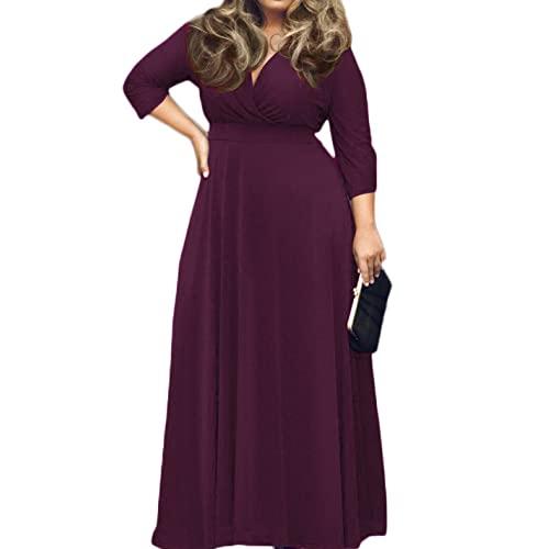 Plus Size Purple Maxi Dress: Amazon.c