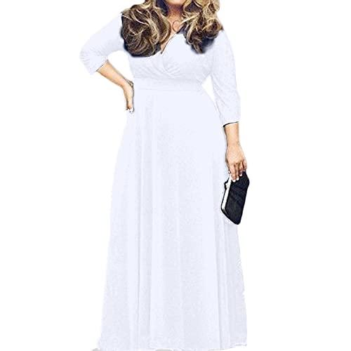 Plus Size White Maxi Dress: Amazon.c