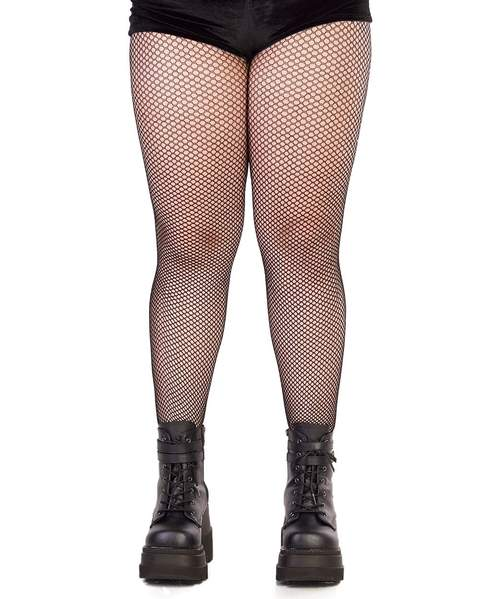 Plus Size Nylon Fishnet Tights - iHeartRav