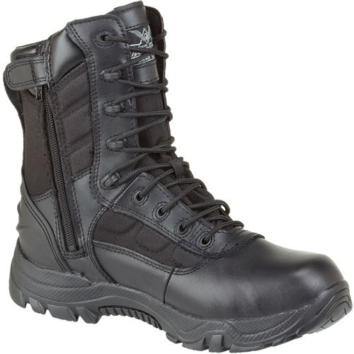 Thorogood 8'' Side Zip Tactical Police Boots - Non Safety Toe .