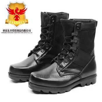 Cheap Black Full Grain Leather Police Boots For Battle - Buy Police .