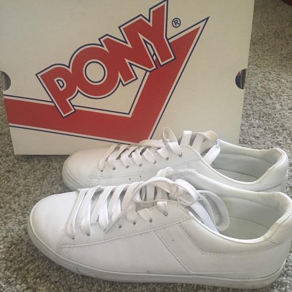 Pony Shoes   White Sneakers   Poshma