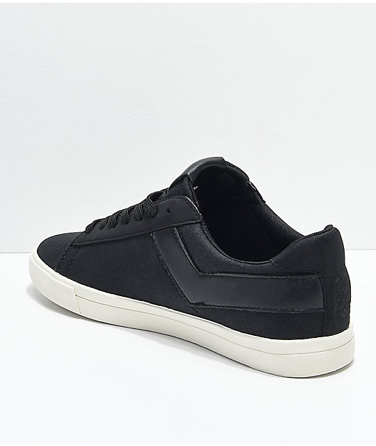 PONY Topstar Lo Black & White Canvas Shoes | Zumi
