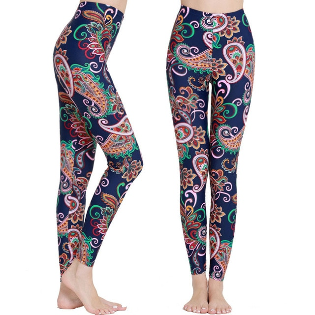 Lycra Printed Leggings Women Sports Tights for Running, Swimming .