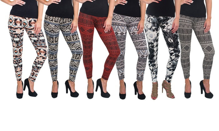 Women's Printed Leggings (6-Pack) | Group