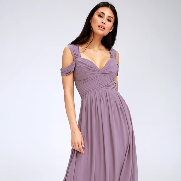 Lulu's Dresses | Lulus Make Me Move Dusty Purple Maxi Dress | Poshma