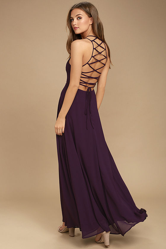 Strappy to be Here Purple Maxi Dress | Cute prom dresses .