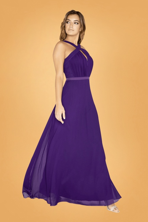 50s Frankie Maxi Dress in Purp