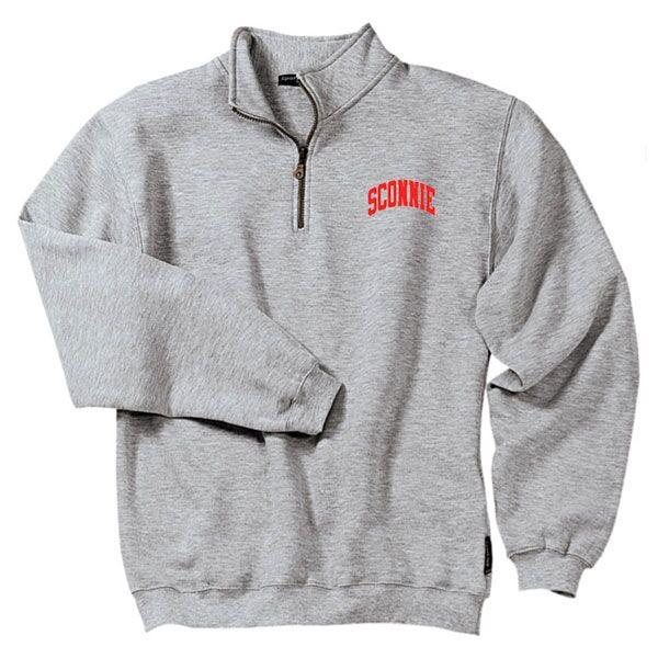 Sconnie Quarter-Zip Pullover - Heather Grey – Sconnie Nati