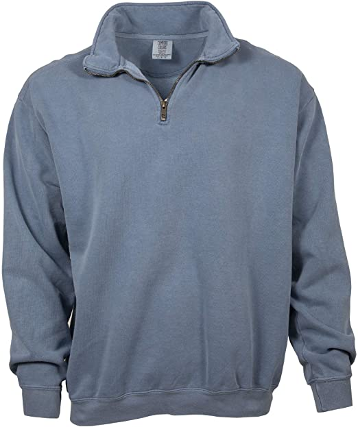 Comfort Colors Men's Adult 1/4 Zip Sweatshirt, Style 1580 at .