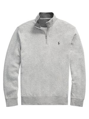 Polo Ralph Lauren - Double Knit Jersey Quarter-Zip Sweatshirt .